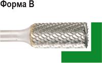 Бор-фреза по металлу D.BOR форма В цилиндр с торцовыми зубьями 16,0*25,0/70,0 хв. 6 мм 9f-11160k02d