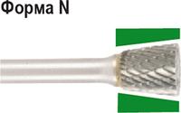 Бор-фреза по металлу D.BOR форма N перевернутый конус 16,0*19,0/64,0 хв. 6 мм 9f-23160k02d