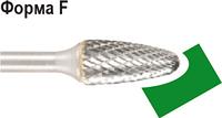Бор-фреза по металлу D.BOR форма F парабола с зак. головой 16,0*25,0/70,0 хв. 6 мм 9f-15160k02d