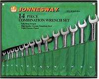 Набор ключей комбинированных дюймовых JONNESWAY W26414S 14 предметов [049030]