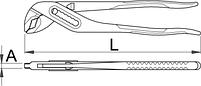Клещи переставные с коробчатым шарниром - 447/1 UNIOR, фото 2
