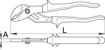 Клещи переставные с накладным шарниром - 441/1BI UNIOR