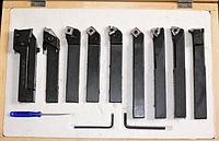 Набор из 9 резцов с креплением пластин JET JE59500021 25х25 мм [59500021]