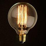 Лампы накаливания Эдисона 40 ватт, 10 см.  лампы ретро-стиля, ретро лампы, винтажные лампы, старинные лампы, фото 2