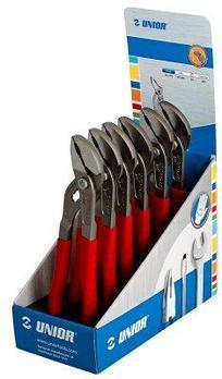 Набор клещей переставных с накладным шарниром в стойке рекламной - 441/7PRST UNIOR