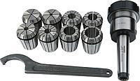 Патрон цанговый JET JE59500025 МК-3/ER40 с набором из 8 цанг 3-26 мм [JE59500025]