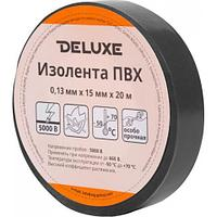 Изолента Deluxe ПВХ 0,13 х 15 мм Черная