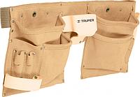 Сумка поясная для инструмента TRUPER POCA-13 из кожи, 13 отделений 11537 [11537]