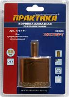 Алмазная коронка для мокрого сверления ПРАКТИКА 55х77 мм 776-171 250-350 об/мин [776-171]