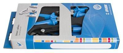 Набор шарнирно-губцевого инструмента в картонной упаковке - 402C8 UNIOR