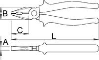 Плоскогубцы комбинированные изолированные - 406/1VDE UNIOR, фото 2