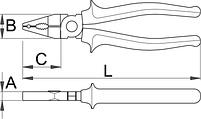 Плоскогубцы комбинированные, изолированные - 420/1VDE UNIOR, фото 2
