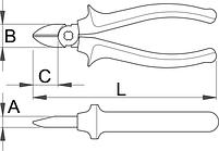 Бокорезы изолированные, рукоятки BI - 461/1VDEBI UNIOR, фото 2