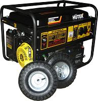 Электростанция бензиновая HUTER DY 6500 LX с колесами и аккумулятором [64/1/15]