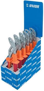 Набор клещей переставных с коробчатым шарниром изолированных, рукоятки BI, в стойке рекламной - 447/1VDEBIST