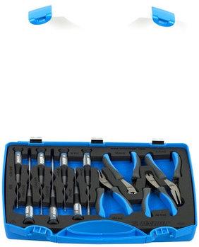 Набор инструментов для электроники (плоскогубцы и отвёртки) в пластиковом кейсе - 403C UNIOR