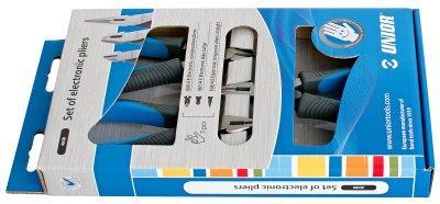 Набор шарнирно-губцевого инструмента для электроники в картонной упаковке - 403B UNIOR