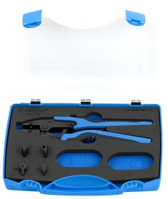 Набор из плоскогубцев электрика (клеммника) и сменных губок в пластиковом кейсе - 428/4AGPB UNIOR