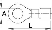 Клемма кольцевая (20 шт.) - 423.1B UNIOR, фото 2
