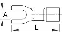 Клемма плоская вильчатая (20 шт.) - 423.2R UNIOR, фото 2