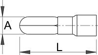 Клемма штыревая (20 шт.) - 423.4R UNIOR, фото 2