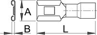 Клемма плоская насаживаемая (20 шт.) - 423.7B UNIOR, фото 2