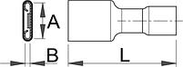 Клемма плоская насаживаемая изолированная (20 шт.) - 423.8J UNIOR, фото 2