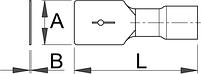 Клемма плоская входящая (20 шт.) - 423.6B UNIOR, фото 2