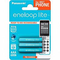 Аккумулятор Panasonic Eneloop Lite BK-4LCCE/3DE 550mAh AAA Dect BL3