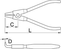 Съёмник наружных стопорных колец с загнутыми концами - 534/1P UNIOR, фото 2
