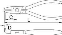Съёмник внутренних стопорных колец с загнутыми концами - 538/1P UNIOR, фото 2