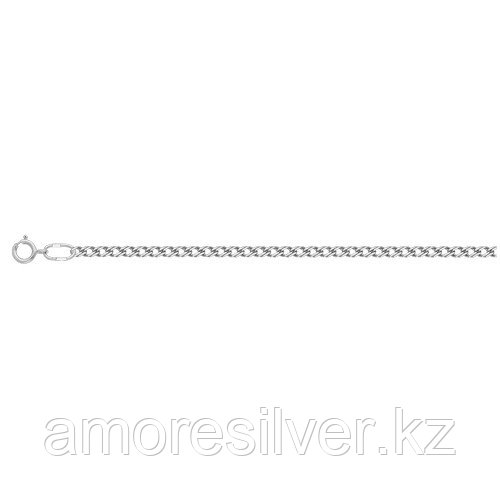 Цепь Титан серебро с родием, без вставок, ромб двойной ЦР250А2гР-С888