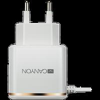Универсальная умная зарядка CANYON H-043 1xUSB AC, Вход: 100В-240В Выход: 5V-210