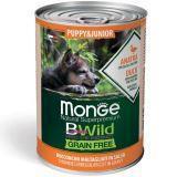 Monge Bwild (Утка) 400г беззерновой влажный корм для щенков Grain Free Formula Cane Puppy & Junior Duck