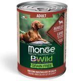 Monge Bwild (Ягненок) 400г беззерновой влажный корм для собак Grain Free Formula Cane All Breeds Adult Agnell