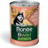 Monge Bwild (Лосось) 400г беззерновой влажный корм для собак Grain Free Formula All Breeds Adult Salmone
