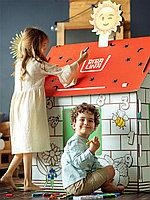 Домик раскраска Бибалина с наклейками в ПОДАРОК
