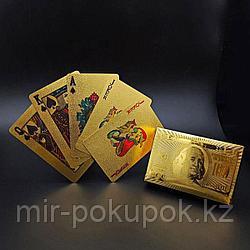 Колода игральных карт под золото и серебро  Premium Gold Standard Poker, Алматы