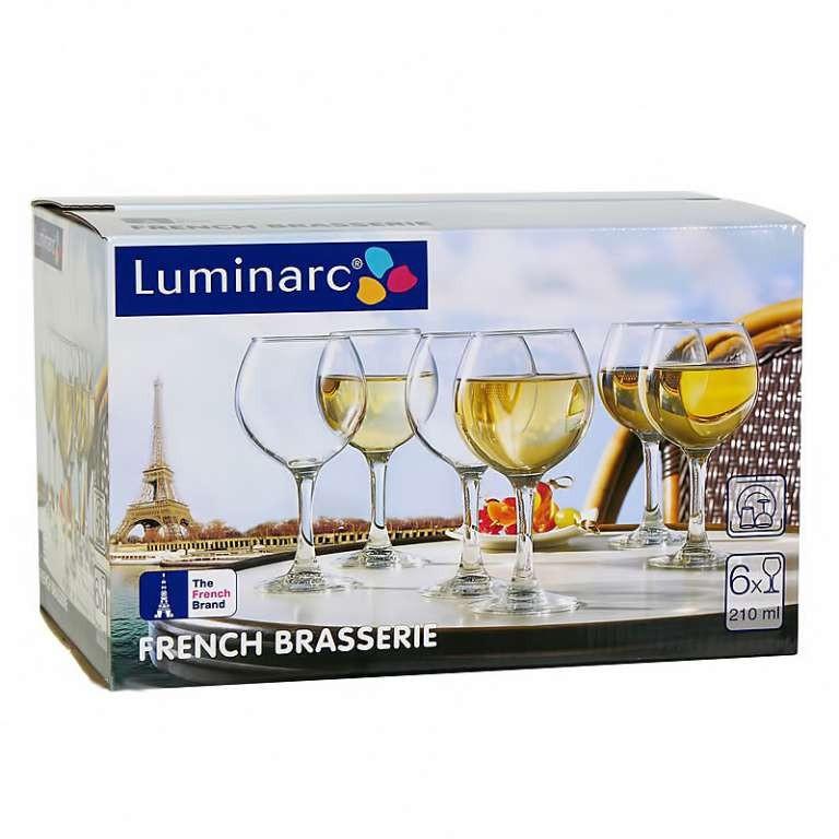 Набор фужеров для вина Luminarc FRENCH Brasserie 210 мл. (6 штук)