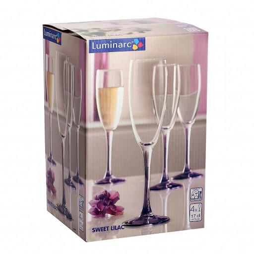 Набор фужеров для шампанского Luminarc SWEET LILAC 170 мл. (4 штуки)