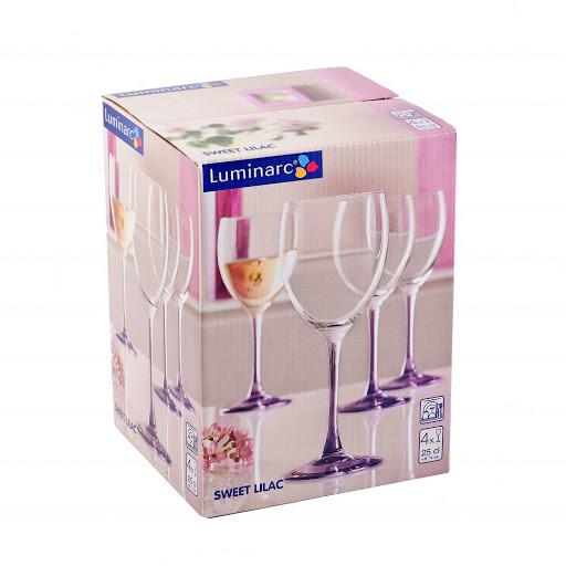Набор фужеров для вина Luminarc SWEET LILAC 250 мл. (4 штуки)
