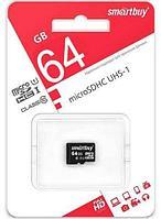 Карта памяти microSD SmartBuy SDCL10-00LE (64Gb Class 10 U1)