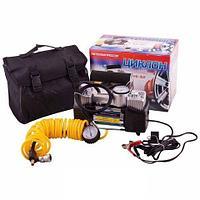Компрессор автомобильный «Циклон» одно-/двухпоршневый насос с сумкой (KS-312)
