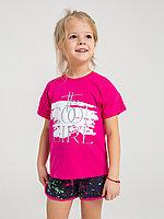Батик Костюм футболка и шорты для девочки (02592_BAT)