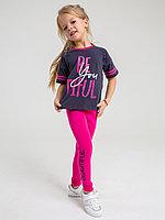 Батик Костюм футболка и шорты для девочки (02594_BAT)
