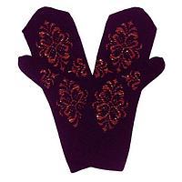 Варежки женские, цвет фиолетовый, размер 18