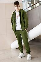 Мужской осенний трикотажный зеленый спортивный большого размера спортивный костюм GO M3008/28-02.176-182 48р.