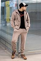 Мужской осенний трикотажный бежевый спортивный большого размера спортивный костюм GO M3008/04-03.176-182 52р.
