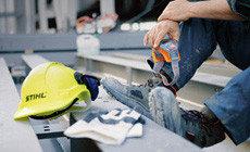 Защитные перчатки, средства защиты слуха, глаз и лица