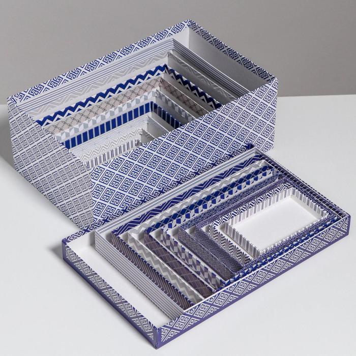 Набор коробок 10 в 1 «Орнамент», 32,5 × 20 × 12,5 - 12 × 7 × 4 см - фото 7